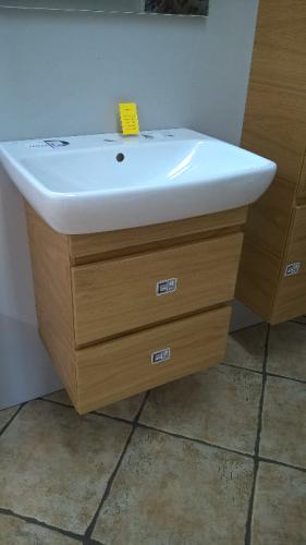 Nova Pro Szafka Z Umywalką Ceramiczną 60 Cm Dąb Atrakcyjna